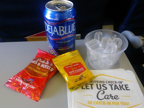Deja Blue Canned Water on Southwest