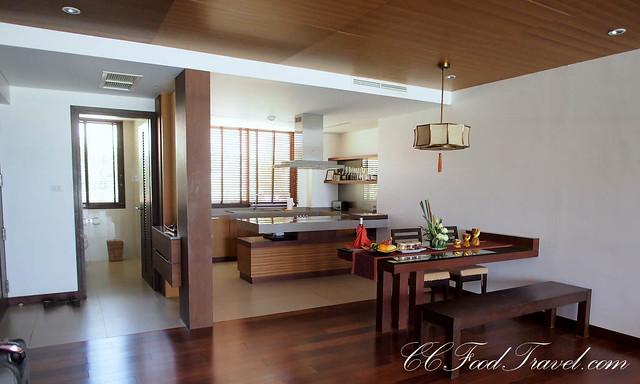 sea view pool suite 2 bedroom kitchen