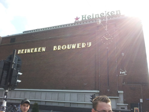 At Heineken for tour and beer #amsterdam