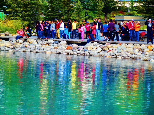 Colourful reflections in Lake Louise
