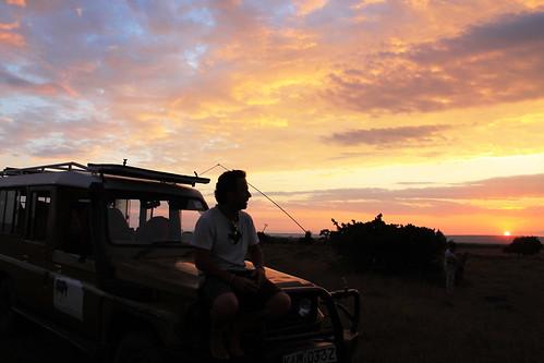 sunset atardecer kenya mara masai enkerende