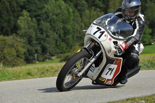 Slippery Sam Triumph classic racer motorcycle Schwanenstadt GP Austria Copyright 2012 B. Egger :: eu-moto images 0199