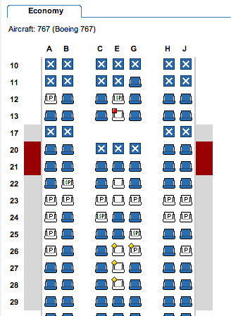 american airlines 767 seating chart