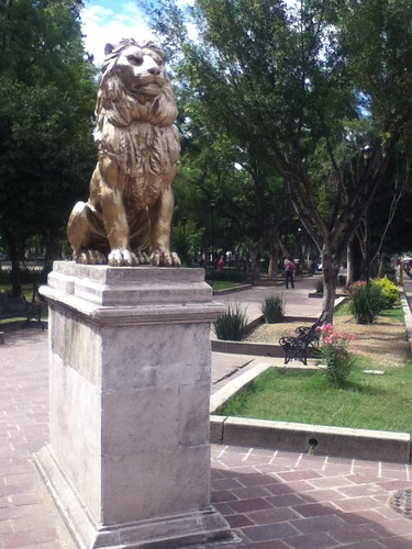 Painted Lion in the Llano Park @ Oaxaca 09.2012