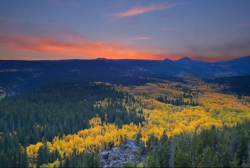 autumn sunset fall colorado rockymountains aspen frontrange indianpeaks