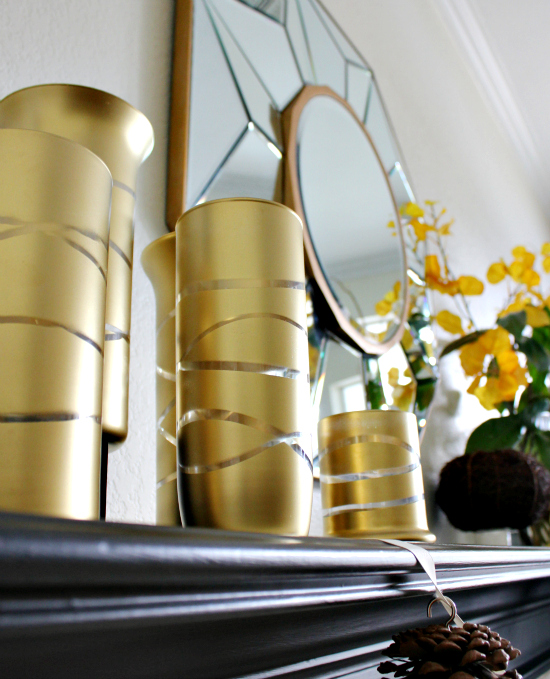 hi sugarplum gold vases