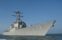 USS Decatur (DDG 73), one of three U.S. Navy ships visiting the Philippines beginning March 22, is seen in this file photo by Mass Communication Specialist 3rd Class Sean Furey.