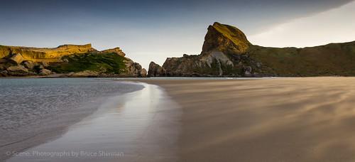 sunset newzealand beach eastcoast castlepoint wairarapa