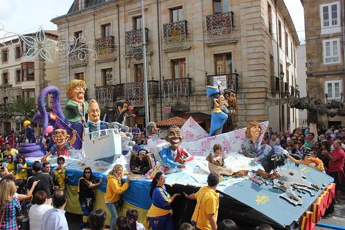 Reinosa desfile de carrozas 2012 fiestas San Mateo