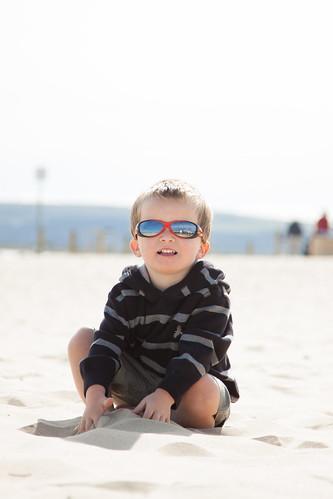 Zack on Sandbanks Beach by Dale Hayter