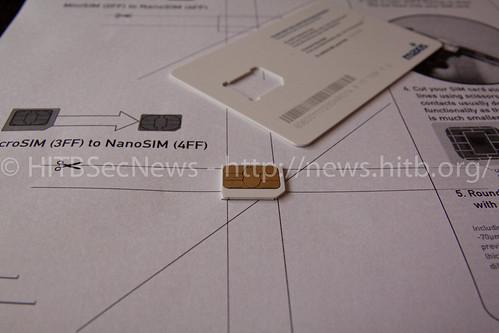 Cutting a Micro SIM down to a Nano SIM
