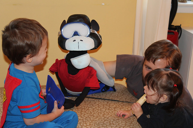 S.E.A. Monkey with the kids