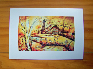 Australiana in Bright Sepia, Original Print