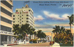 Ocean Drive looking north from 12th Street, Miami Beach, Florida