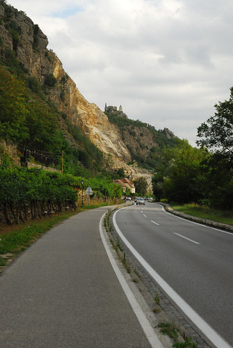Biking to Dürnstein