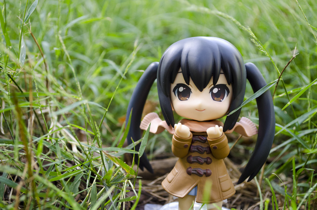 Nendoroid Asua in some grass