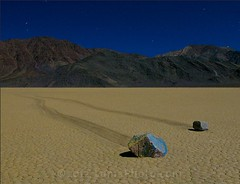 Sailing Stones at 2 AM - Death Valley