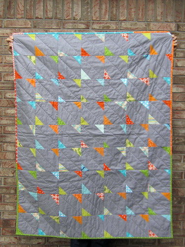 Baby Boy Quilt: Little Bowties with Grey