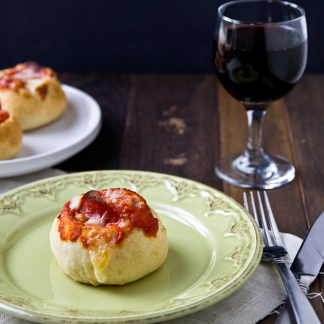Mini Pepperoni Pizza Bread Bowls