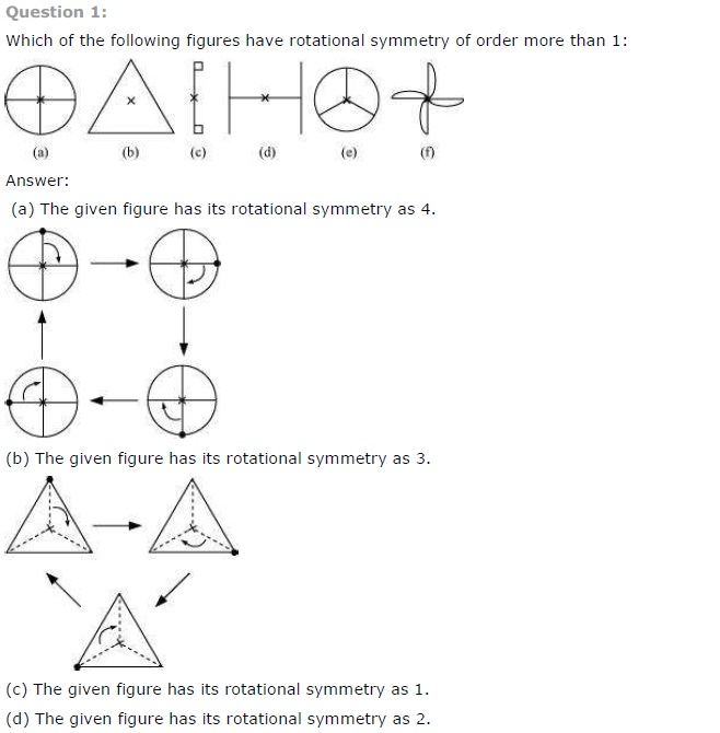 NCERT Solutions for Class 7th Maths Chapter 14 Symmetry Exercise 14.2