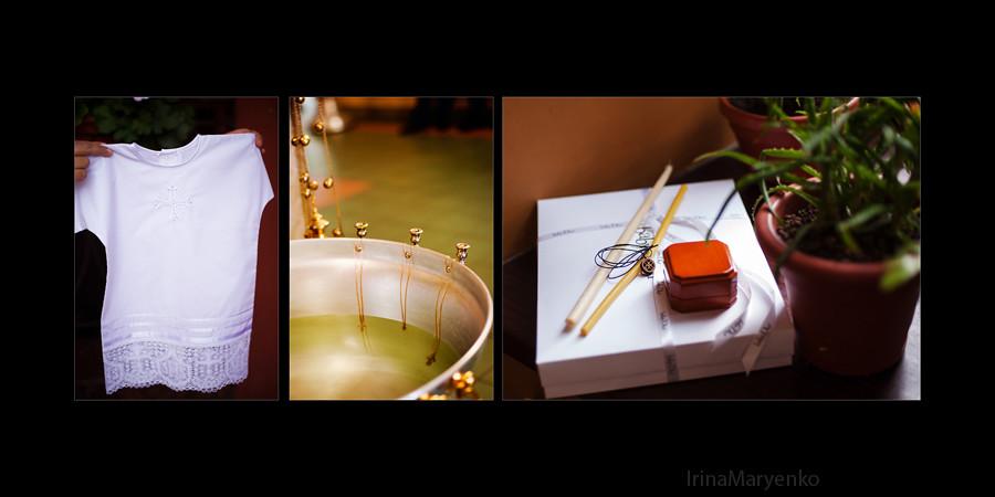 Фотосъемка крещения в храме Великомученика Георгия Победоносца. Фотограф Ирина Марьенко.