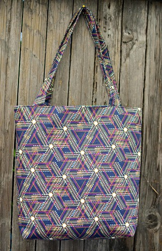 mouth stitches tote back