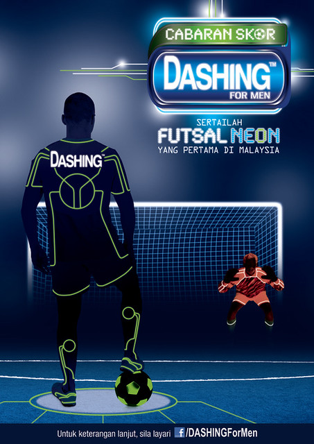 Pertandingan Futsal Neon Cabaran Skor Dashing