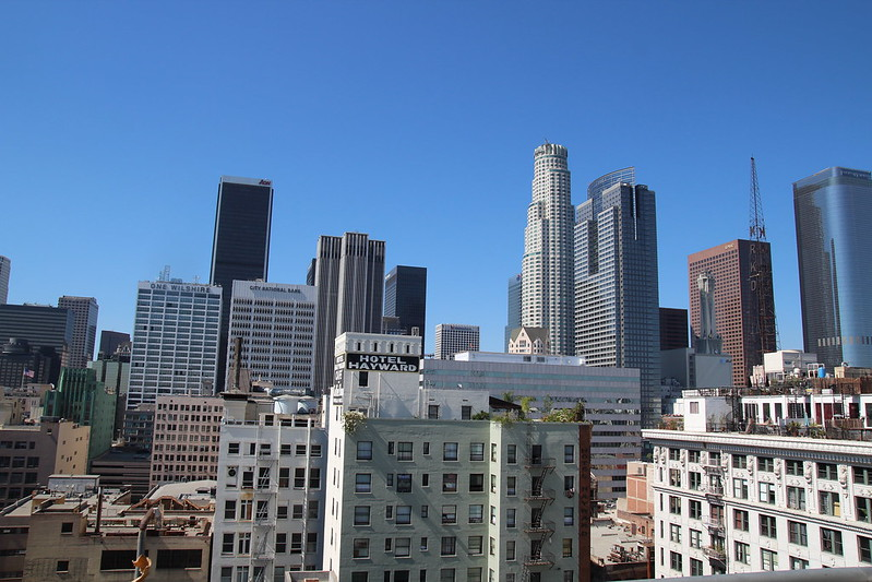 Downtown LA during the day