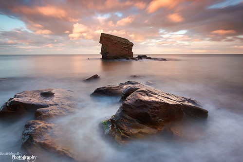 sunset seascape clouds garden rocks coastal sluice seaton whitleybay charlies