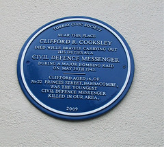 Photo of Clifford R. Cooksley blue plaque