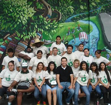 Fabian Garcia (first row, center) represents the U.S. Forest Service with the Southern California Consortium, which encourages young people to consider careers in natural resources, higher education and employment.