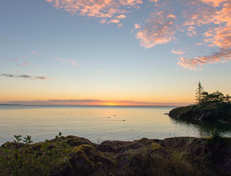 Sunrise at the Vänern