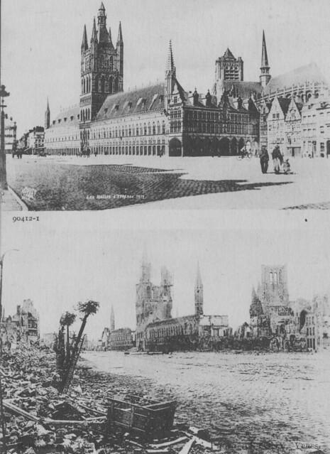 Ww1 Landmarks The Cloth Hall Ypres Great War Photos