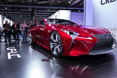 automobile, automotive exterior, exhibition, vehicle, performance car, automotive design, lexus, auto show, concept car, land vehicle, luxury vehicle, supercar, sports car,