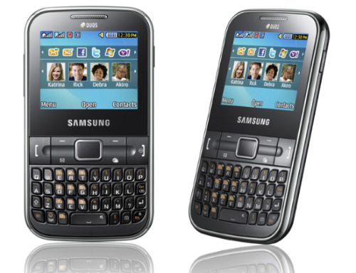 Samsung Chat 322: Celular Practico con Doble Chip