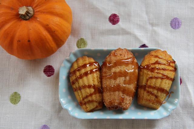 Glazed Pumpkin Spiced Madeleines and Cinnamon Maple Madeleines