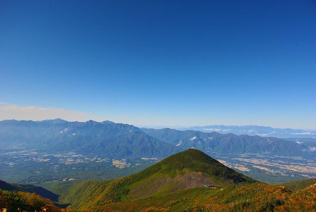 権現岳から青年小屋・編笠山