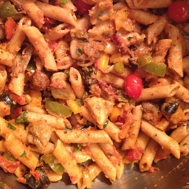 Made dinner for Dad. Vegan Whole Wheat Pasta with Black Ol… | Flickr ...