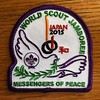 Last item found in #wsj2015 bag of tricks. Remember our commitment for peace. We are #messengersofpeace #scouts #worldwidescouts #globalscouts #jamboreescouts. See you in #2019wsj