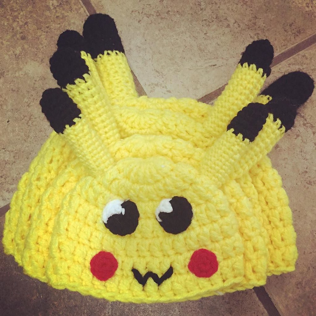 Crochet Pikachu Hat Ready For The Craftshow Pattern Is On Etsy