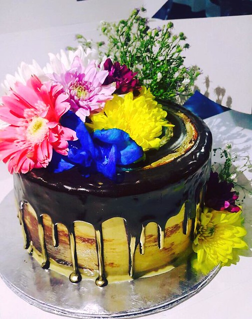 Floral Cake by Nosheen Ali Meer of Sinfully Sweet - Custom Cakes by Nosheen Ali