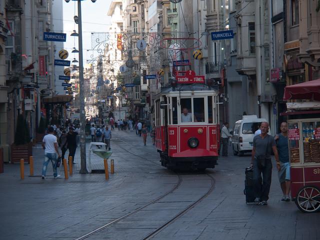 Tram at Taksim