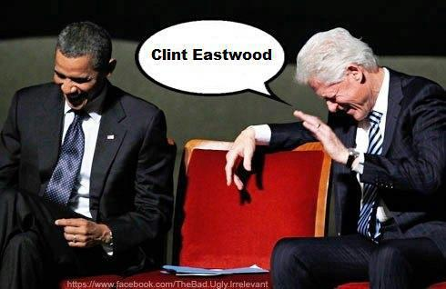 Two Presidents..and an empty chair!