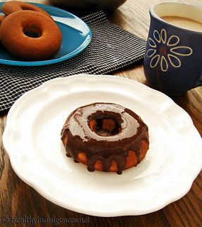 Scrumptious Sugar-Free Cake Donuts w/Chocolate Glaze