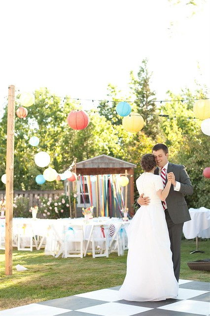 A DIY wedding carnival extravaganza. Complete with food booths