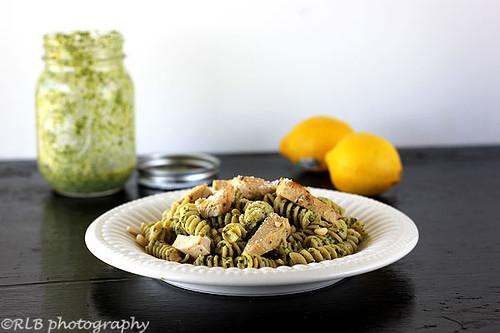 Lemon Pesto Pasta with Chicken