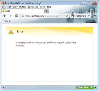 Outlook.com Error