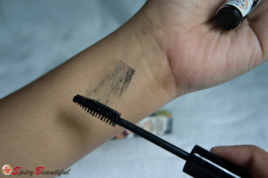 theBalm Cheater Mascara Swatch