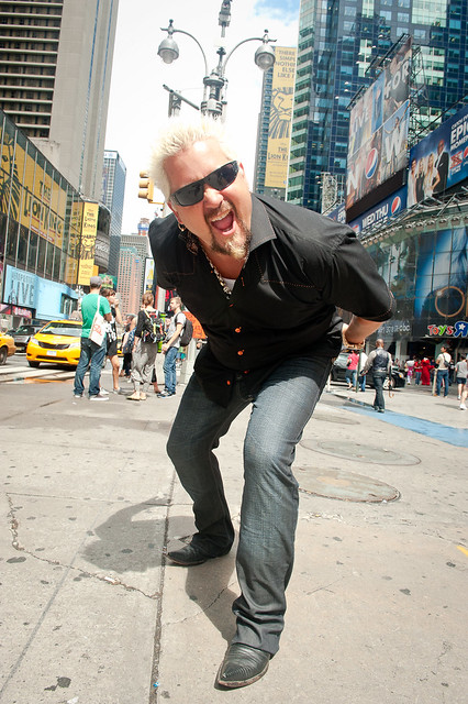 Guy Fieri in Times Square (for the NY Post)