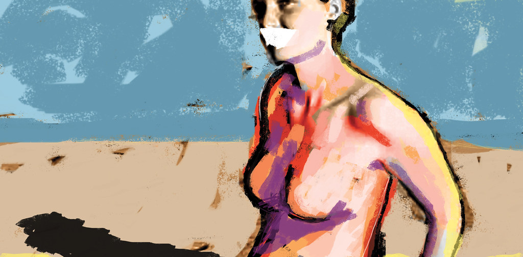 Salome and Friends Series - Model on The Beach